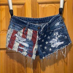 Ralph Lauren denim & supply American flag shorts